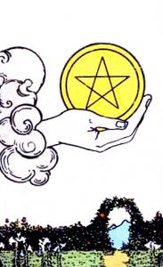Tarot Pentagrammen Aas