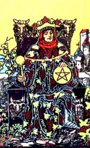 Tarot Pentagrammen Koning