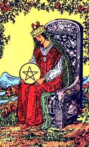 Tarot Pentagrammen Koningin
