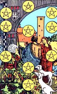Tarot Pentagrammen Tien