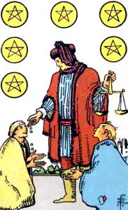 Tarot Pentagrammen Zes